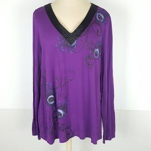 Apt 9 sz XXL Intimates Long Sleeve Pajama Shirt